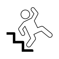man falling down stairs icon