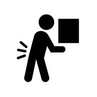 man hurting back icon